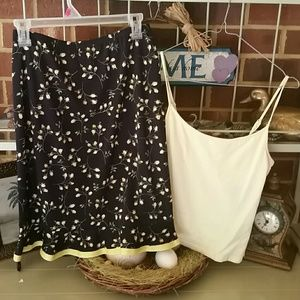 Skirt with tank top, sz small